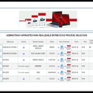 Aplicacion web Gestion aspirantes a empleo smsolucionesalamedida.com