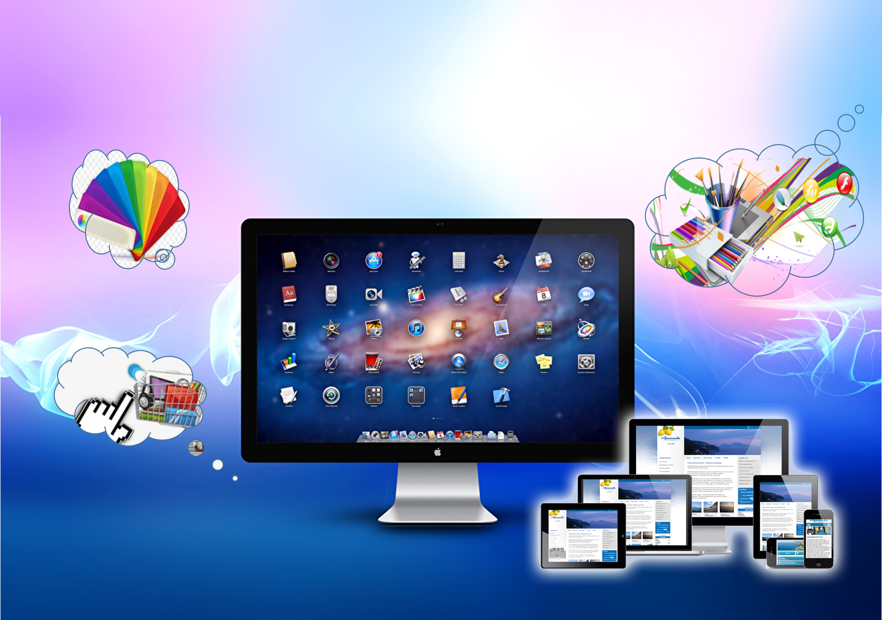 Diseño y desarrollo web smsolucionesalamedida.com