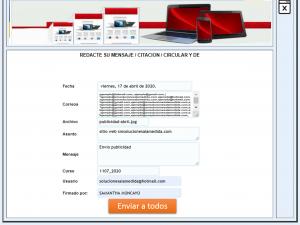 Aplicativo web para enviar correos smsolucionesalamedida.com